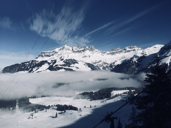 Engelberg - Little foggy at base, but stunning up at the top. - © iPhone