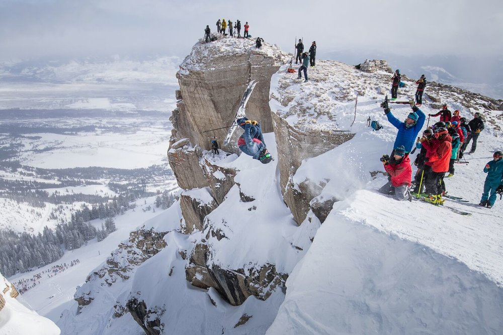 An impressive backflip send during the recent Kings and Queens of Corbet's at Jackson Hole. - © Jackson Hole