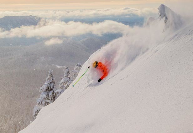 Glorious powder skiing on the side of a Oregon's most famous volcano - © Dave Tragethon / Mt. Hood Meadows