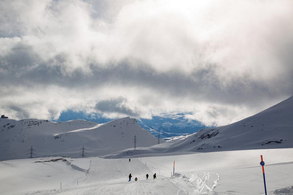 Die Piste 31 bringt euch von Vorab (2670m) Richtung Fuorcia - © Skiinfo