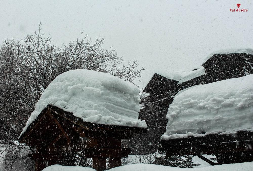 Après 48h de chute de neige à Val d'Isère (8 et 9 janvier 2018) - © OT de Val d'Isère