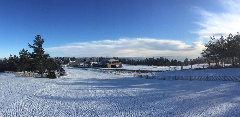 Le front de neige du Bleymard - Mont Lozère - © Station du Bleymard Mont Lozère