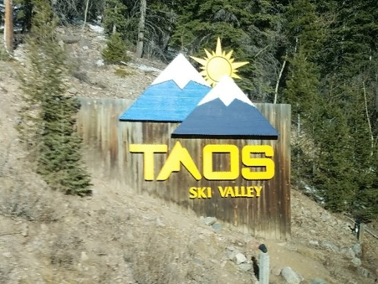 Taos Ski Valley - Here's the sign upon arriving at Taos ski area!  - © Mark G