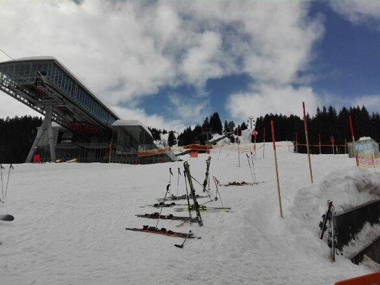 Golm - Nog steeds prachtige sneeuw en lekker weer. - © AbriK