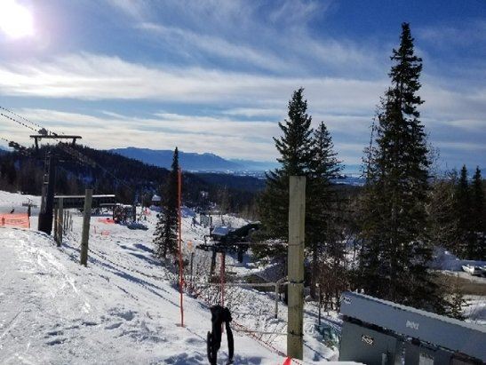 Whitefish Mountain Resort - Getting started! Blue skies so far! - © Kris