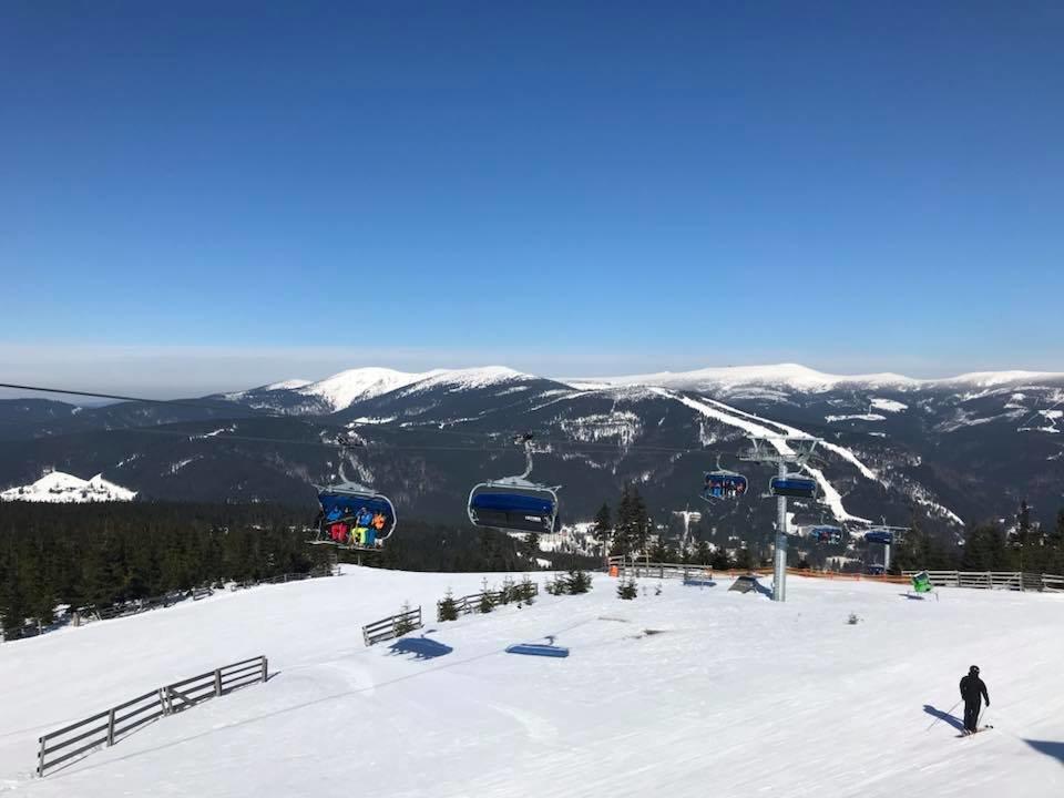 Skiareál Špindlerův Mlýn 20.3.2018 - © facebook Skiareál Špindlerův Mlýn