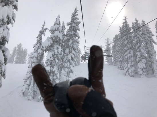 Northstar California - A little more pow today