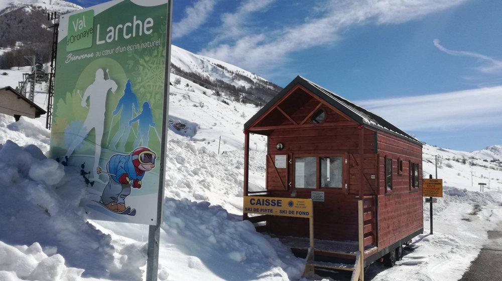 Entrée du domaine nordique de Larche - © Office de tourisme de l'Ubaye