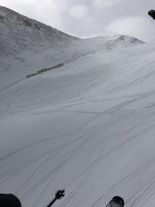 Arapahoe Basin Ski Area - Fresh tracks at A-Basin today - couple inches fresh powder and great conditions  - © finnanvil