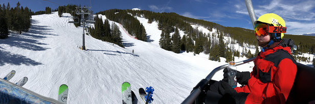 Breckenridge - Solid conditions today. Cool.  Snow flying. Groomers groomed. Hard pack with a nice cover of new snow.  - © Enrico phone 6s