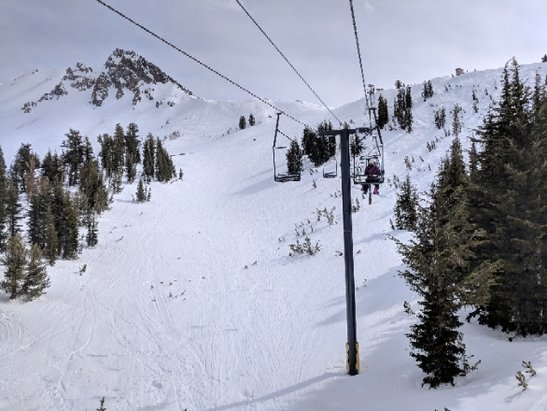 Mammoth Mountain Ski Area - Great bluebird day! powder stashes are all over the mountain in the afternoon.  - © anonymous