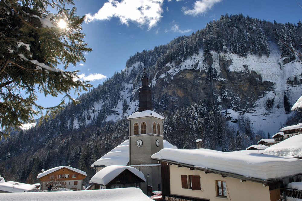 Ambiance hivernale et décor de carte postale à la Giettaz - © J-P. NOISILLIER / Nuts.fr