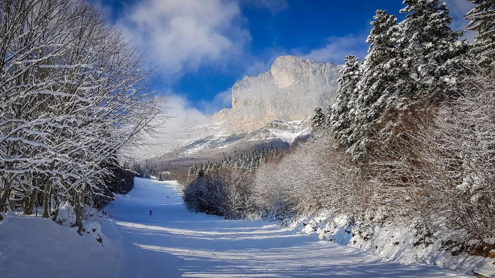 Ski sur les pistes de Saint Hilaire du Touvet - © Bruno Lavit