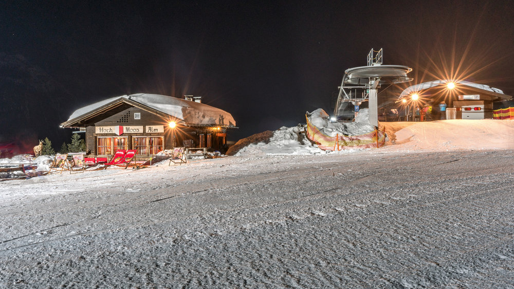 Die Moosalm bei Nacht - © Olympiaregion Seefeld