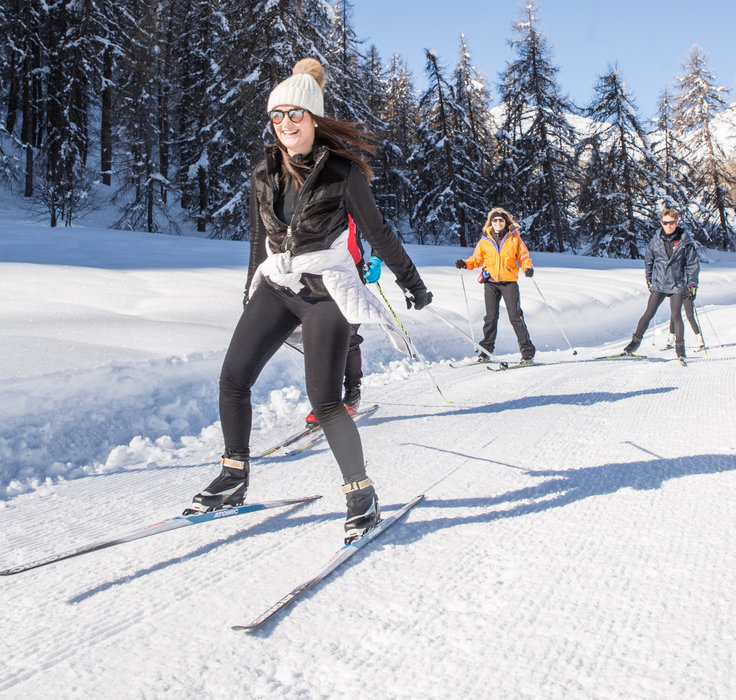 Les joies du ski nordique à Puy Saint Vincent - © Thibaut BLAIS / OTI du Pays des Écrins