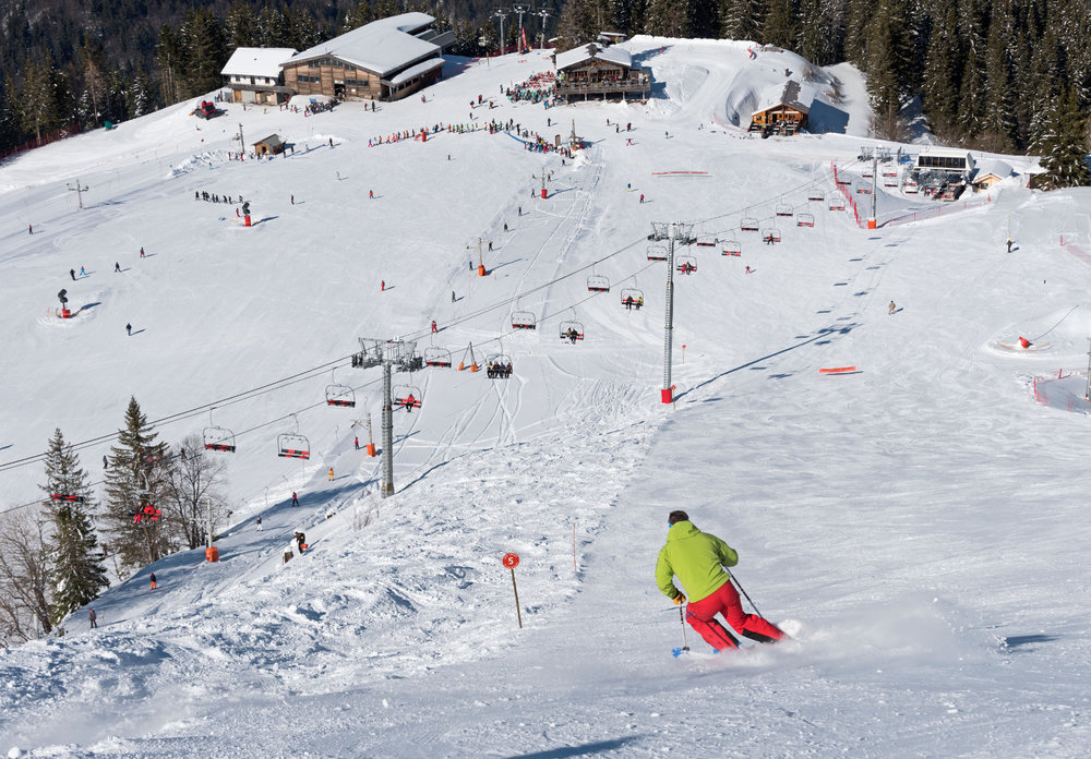 Vue sur le domaine skiable du Roc d'Enfer - © Domaine du Roc d'enfer
