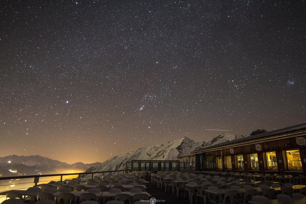 Nächtliche Eindrücke aus dem Skigebiet Anzère - © Anzère Tourisme