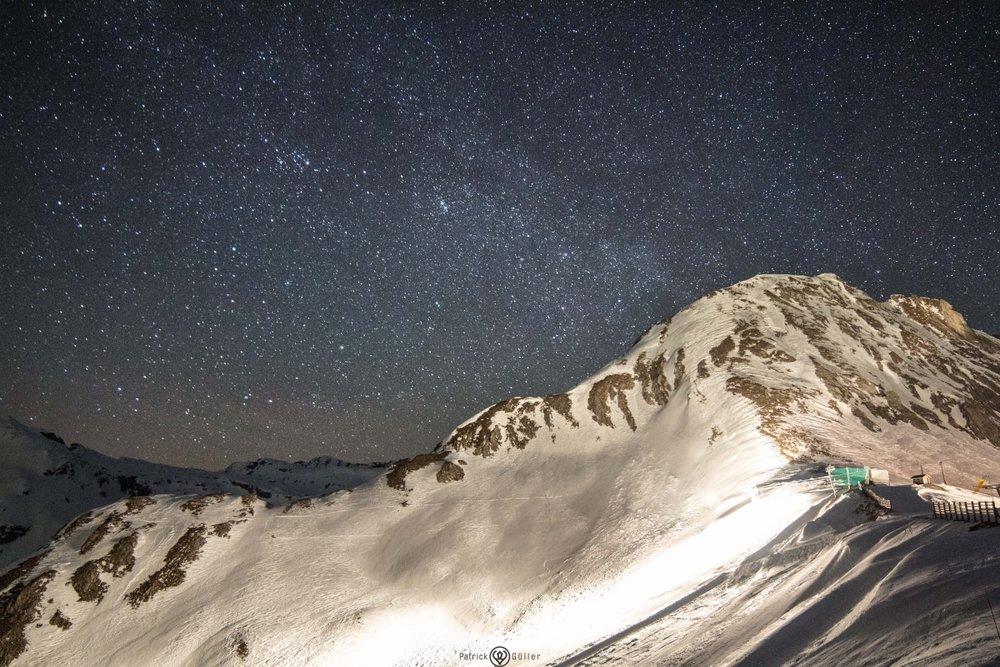 Traumhafter Sternenhimmel über den Pisten von Anzère  - © Anzère Tourisme