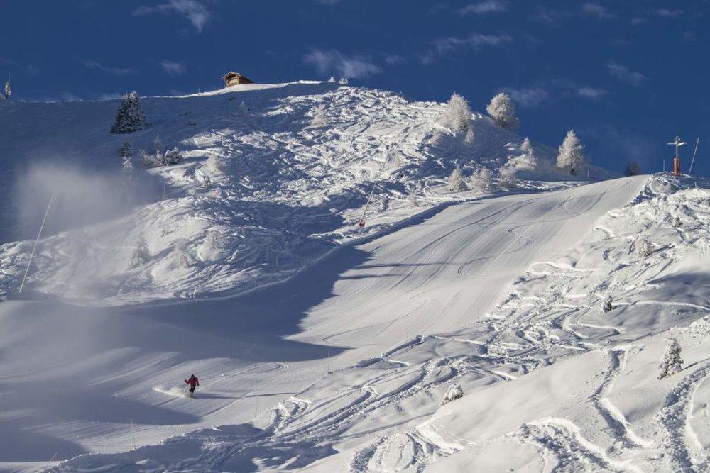 Das Skigebiet Bruson ist direkt mit den Pisten von Verbier verbunden - © Téléverbier SA