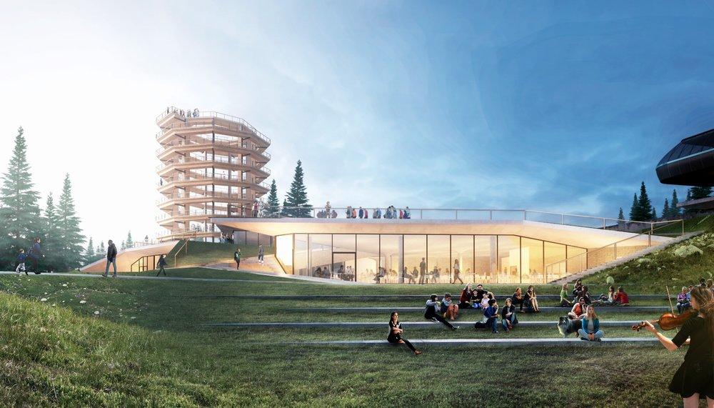 Reštaurácia Bachledka - pohľad zdola (vizualizácia) - © Ski Bachledka