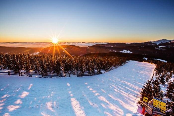 Svítání ve Skiareálu Špindlerův Mlýn - © Skiareál Špindlerův Mlýn