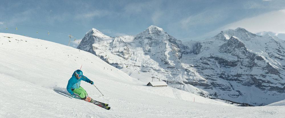 Im Gebiet Kleine Scheidegg hat man Eiger, Mönch und Jungfrau stets im Blick - © Jungfrau Region