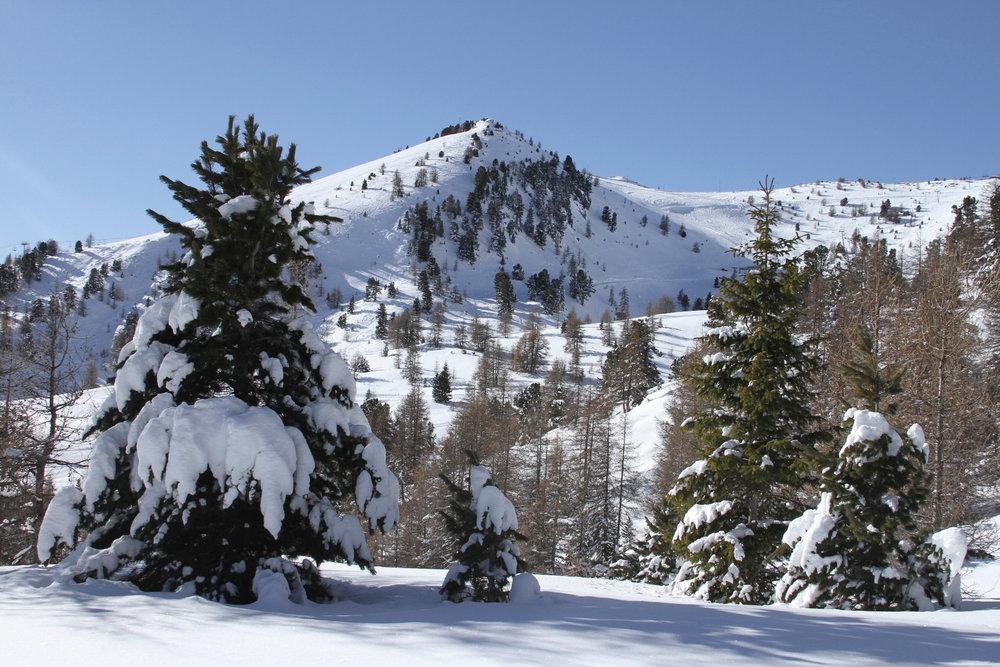 Le paysage justifie à lui seul la dépense d'énergie... C'est ça aussi le plaisir des randonnées en raquettes sur le secteur de Dormillouse au dessus de Montclar - © Station de ski de Montclar