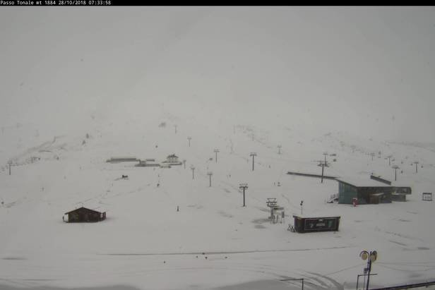 Pontedilegno Tonale - Neve fresca sulle Alpi 27-28 Ottobre 2018 - © Pontedilegno Tonale Facebook
