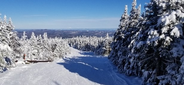 Okemo Mountain Resort - Excellent conditions at Okemo today.  30+ trails open, plus some glades. - © CG