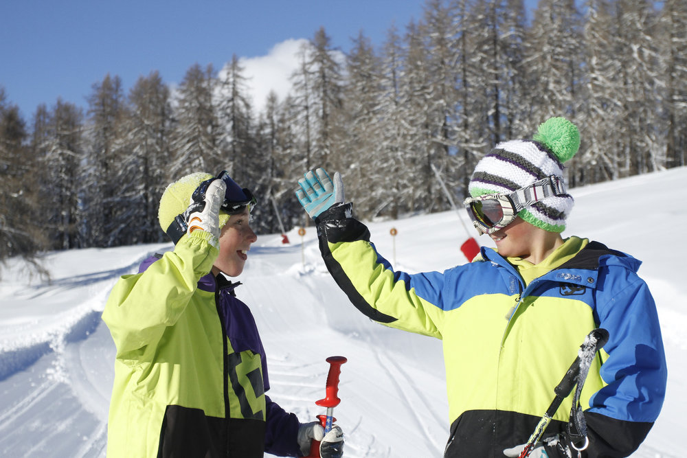 Valbergt, terrain de glisse et de jeux pour les petits et les grands skieurs... - © C. Robion