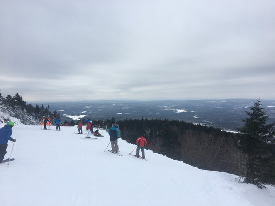 Mount Sunapee - Good start to the season.  Mountain has good coverage.  Rained and froze last sunday but have been blowing snowbsince.  Ice coming though by midsummer  - © Dr.john