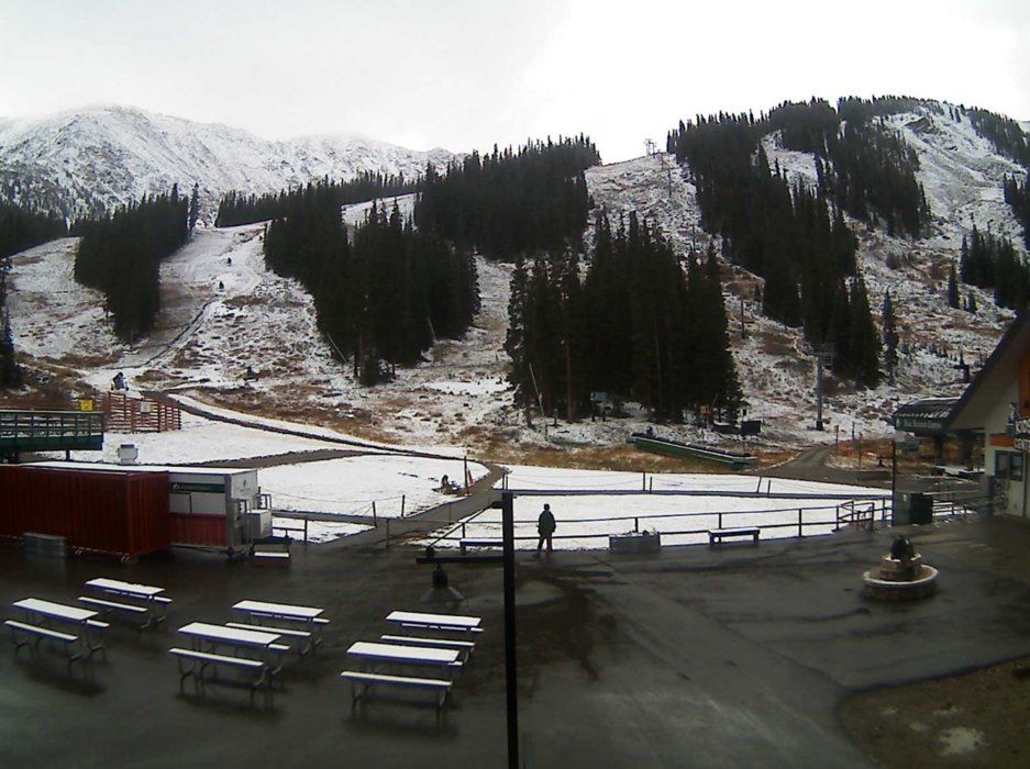 Arapahoe Basin's webcam the morning of October 8, 2018. - © Arapahoe Basin