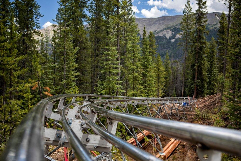 Copper's Rocky Mountain Coaster is 5,800 feet long, descending 430 vertical feet. - © Copper Mountain