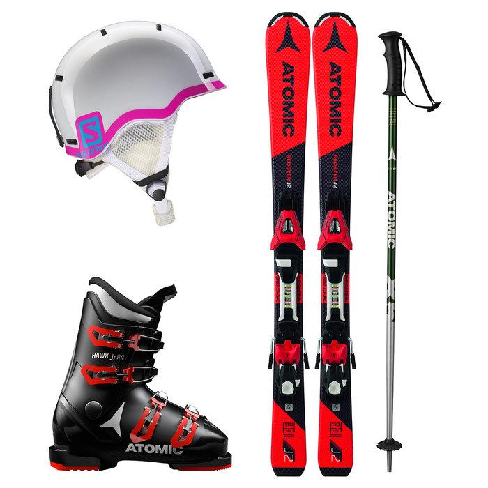 Dětský lyžařský set k zapůjčení online: Dívčí set s růžovou přilbou - © mall.cz/CZ SKI
