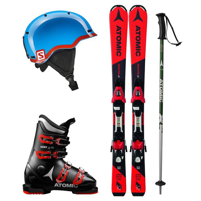 Dětský lyžařský set k zapůjčení online: Chlapecký set s červenými lyžemi - © mall.cz/CZ SKI