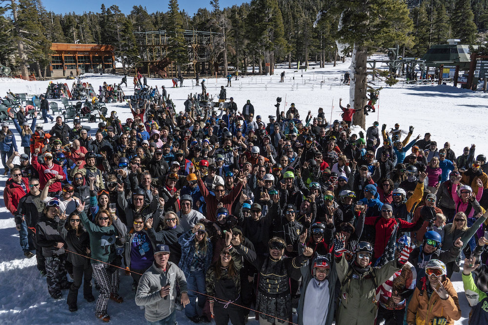 A crowd pf Heavenly skiers and riders waiting patiently for the 2018/2019 season to kick off. - © Heavenly