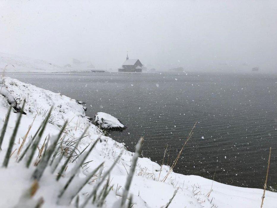 Schneefall in Melchsee-Frutt - © Facebook Sportbahnen Melchsee-Frutt