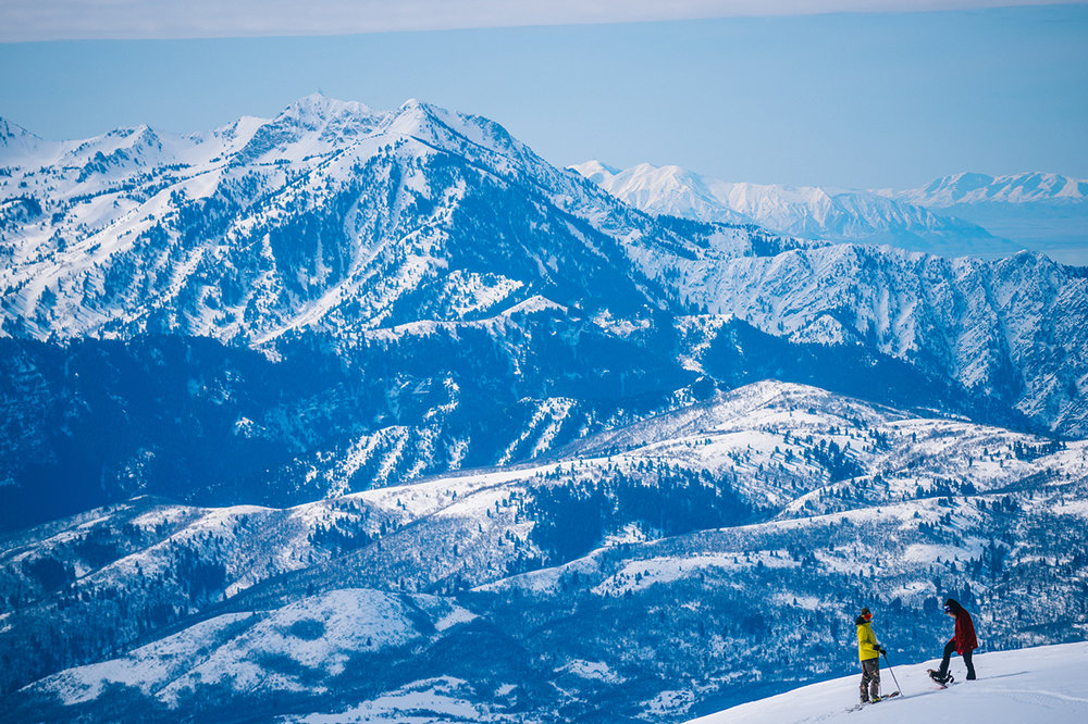 Thanks to a cap on daily ticket sales, there are about three acres per skier on the expansive Powder Mountain's 8,464 acres, 7,900 of which are lift accessible and the rest reached by snowcats. - © Jeremiah Watt