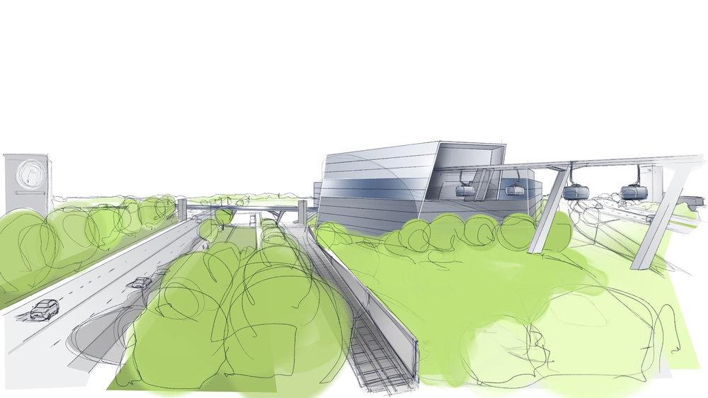 Seilbahnstation Studentenstadt (Richtung Südwest) - © Schörghuber Unternehmensgruppe