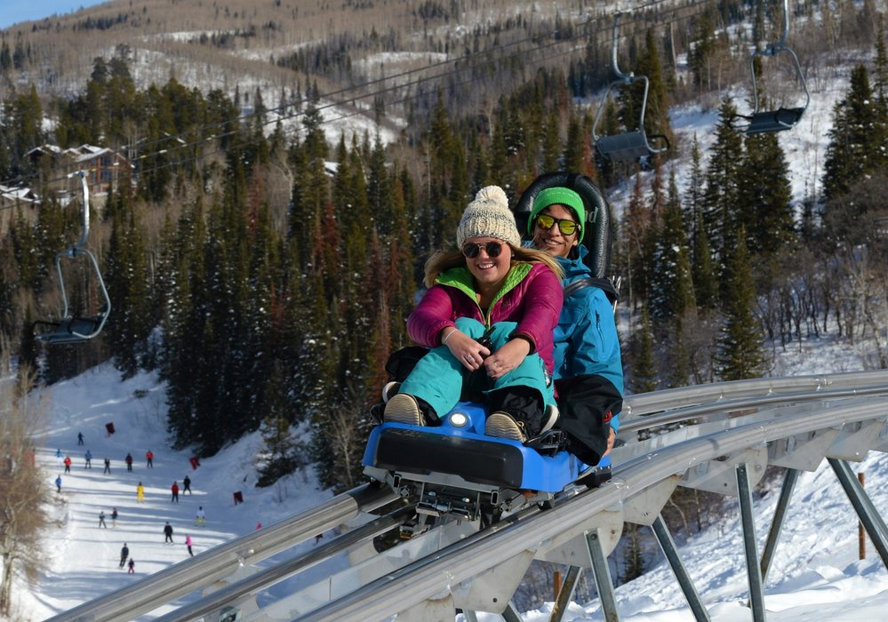 Many skiers and snowboarders ride the mountain coaster when they're not sliding on the slopes. - © Larry Pierce/Steamboat Ski Resort