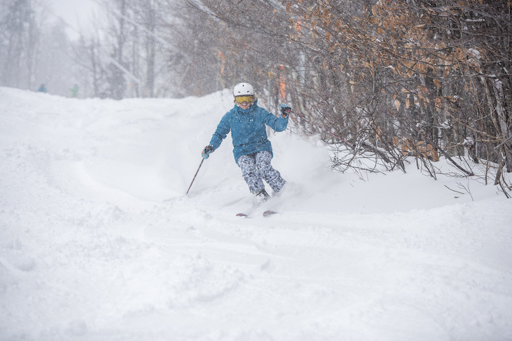 The Northeast opened with fresh snow and big smiles. - © Sunday River