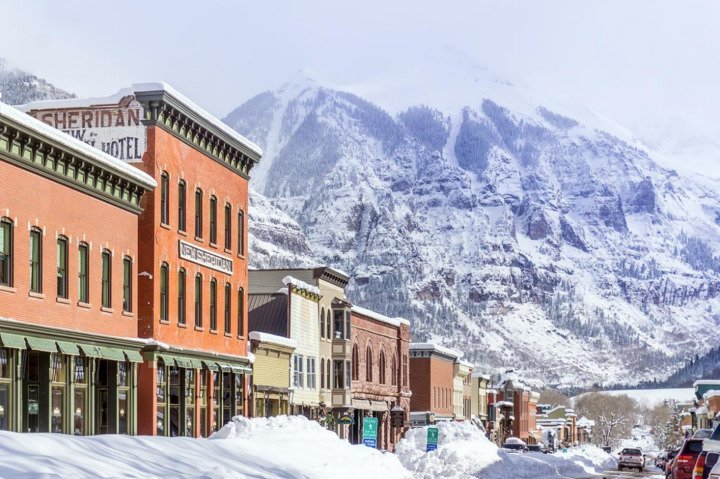 When the snow flies, Telluride transforms into a winter wonderland. - © Visit Telluride/Ryan Bonneau