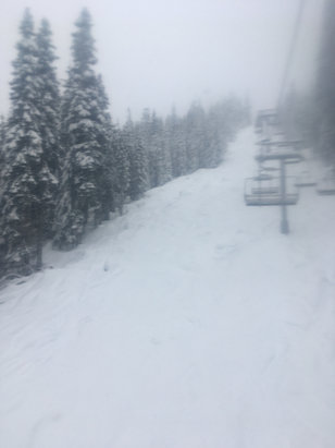 The Summit at Snoqualmie - Nice snow, small sticks sticking up from snow - © Joes phone