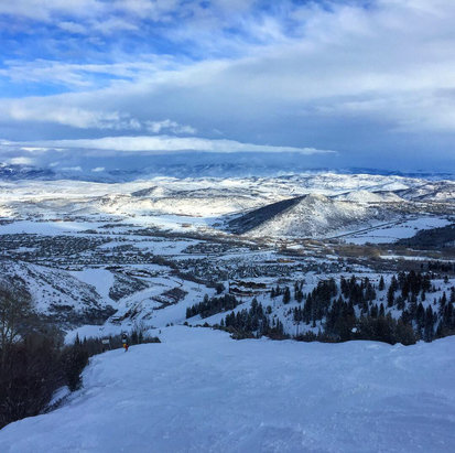 Park City - Great snow Sunday and crowds are gone.  - © iPhone (3)