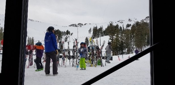 Squaw Valley - Alpine Meadows - Great day yesterday, sunshine after the storm, great skiing off granite. Got a bit warm towards the afternoon, sunny facing aspects a bit crusty today. - © anonymous