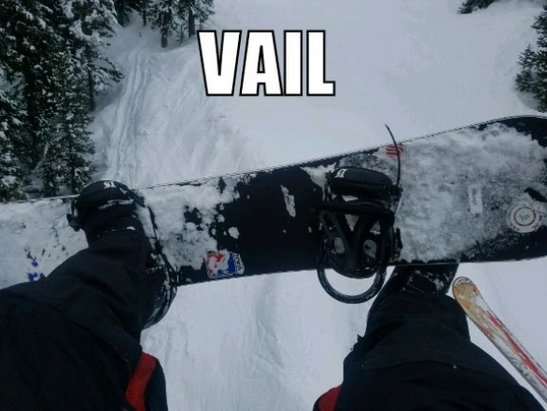 Vail - it's all good. front and back are rolling with fresh!  - © anonymous