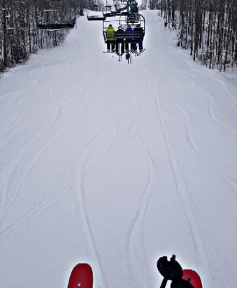 """Holiday Valley - First turns with 9+"""" and the rest of the day should be awesome.  Everything including The Wall is open and covered well. - © pdubs23"""