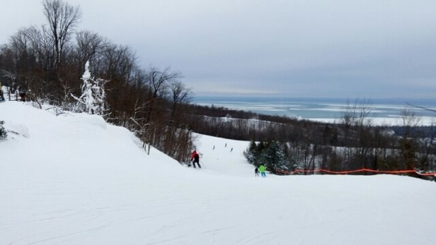 Blue Mountain - Great day.  Hard packed snow but no crowds. - © tjh