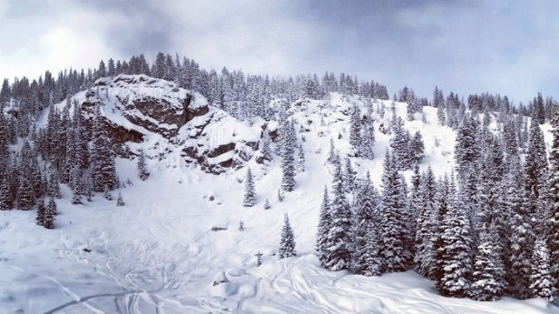 Winter Park Resort - chutes were open yesterday. scraped off pretty quickly but still amazing terrain - © danalogue