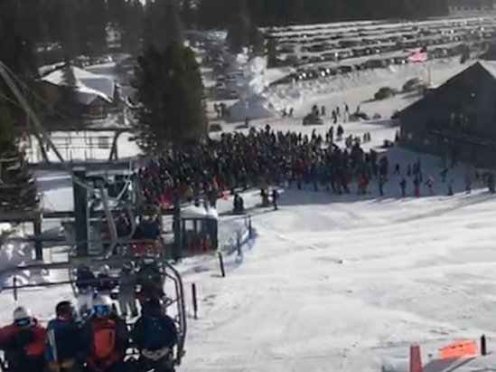 Bridger Bowl - Walked like a mile up hill from the closest parking and stood in line for over an hour. Small ski area with large crowds. Nothing to see here.  - © Erics phone